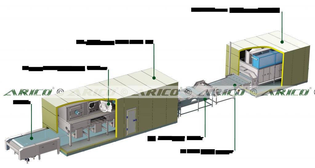 Arico-Uni-Impingement-Steel-Belt-IQF